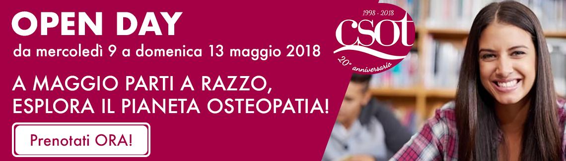 open day csot osteopatia maggio 2018