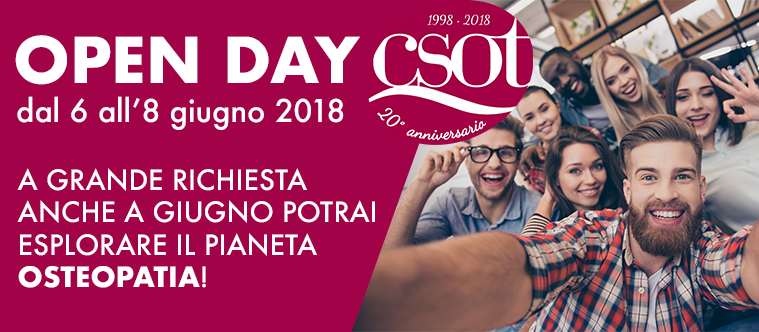 open day csot osteopatia roma giugno 2018