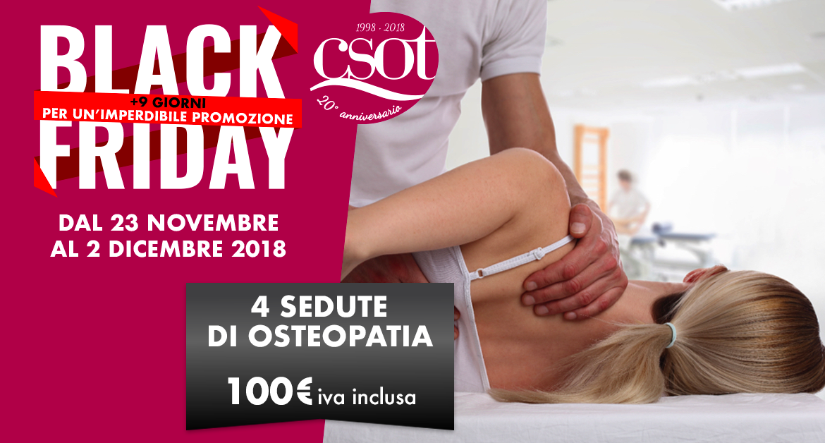 black friday csot osteopatia roma
