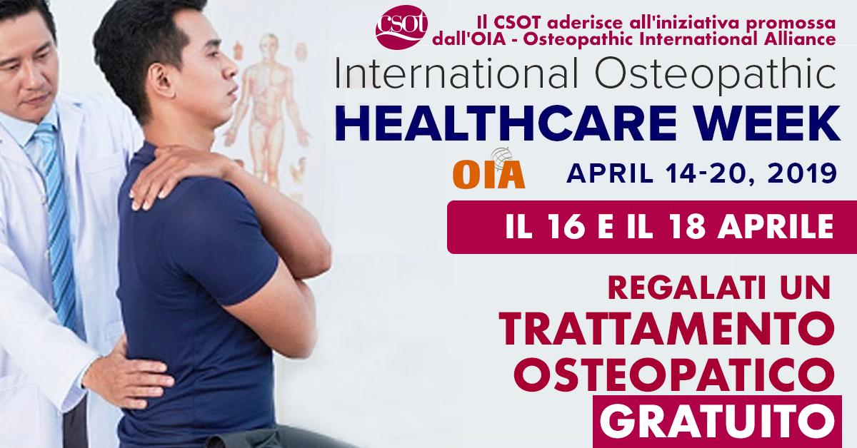 trattamento osteopatico gratuito 16 18 aprile 2019 csot
