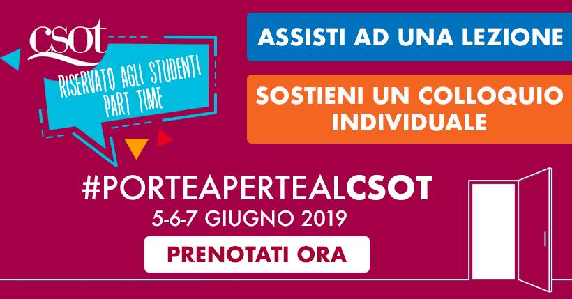 porte aperte al csot roma giugno 2019 part time