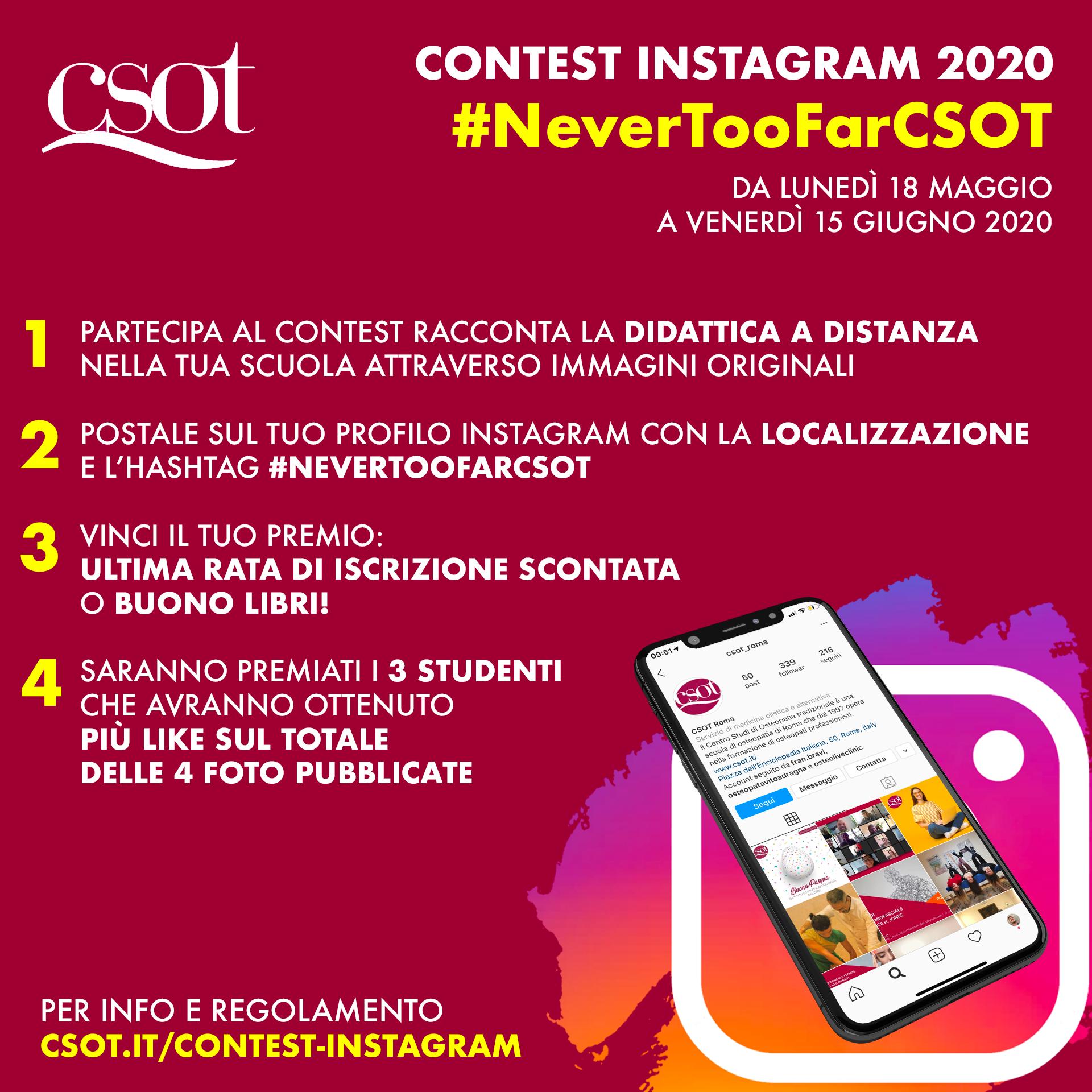 csot instagram 2020 never too far