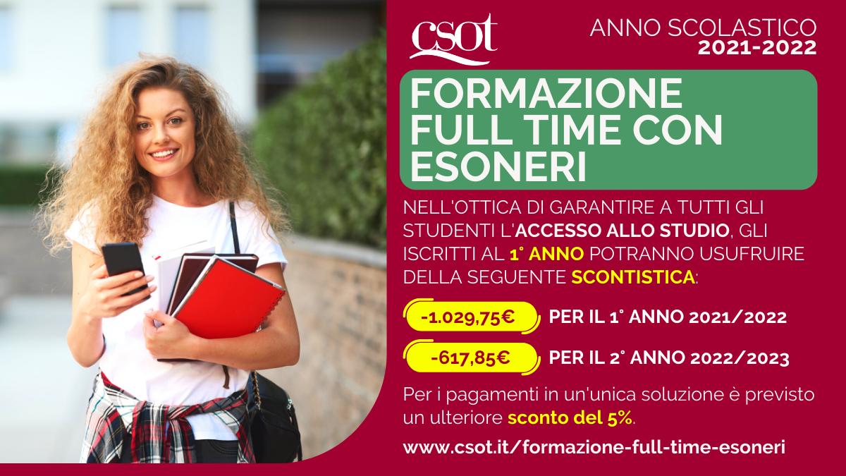csot formazione full time con esoneri 2021-2022